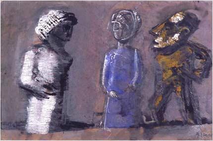 Three totems - Mario Sironi