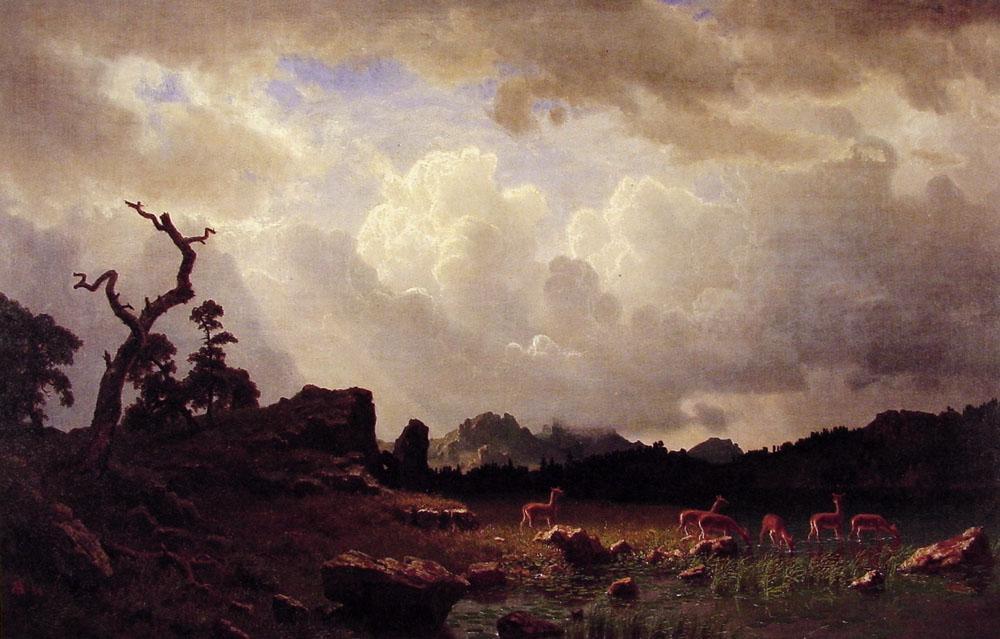 Thunderstorm in the Rocky Mountains  - Albert Bierstadt