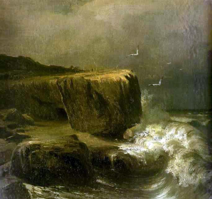 Tide near the Shore of the Crimea - Fyodor Vasilyev