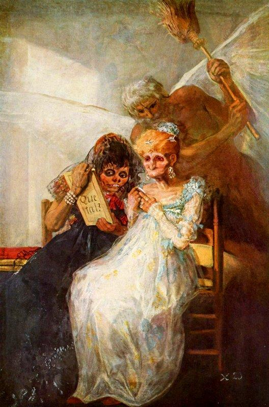 Time of the Old Women - Francisco Goya