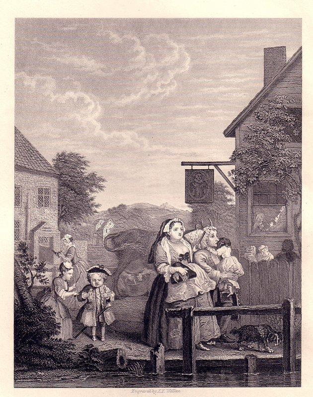 Times of the Day: Evening - William Hogarth