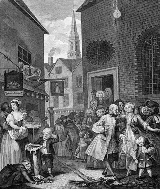 Times of the Day, Noon - William Hogarth
