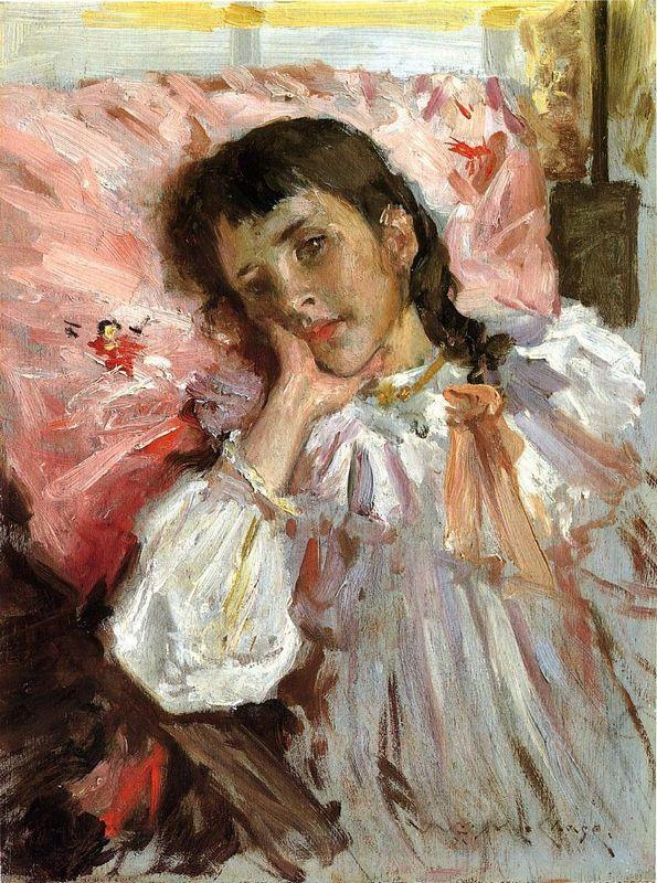 Tired, aka Portrait of the Artist's Daughter - William Merritt Chase