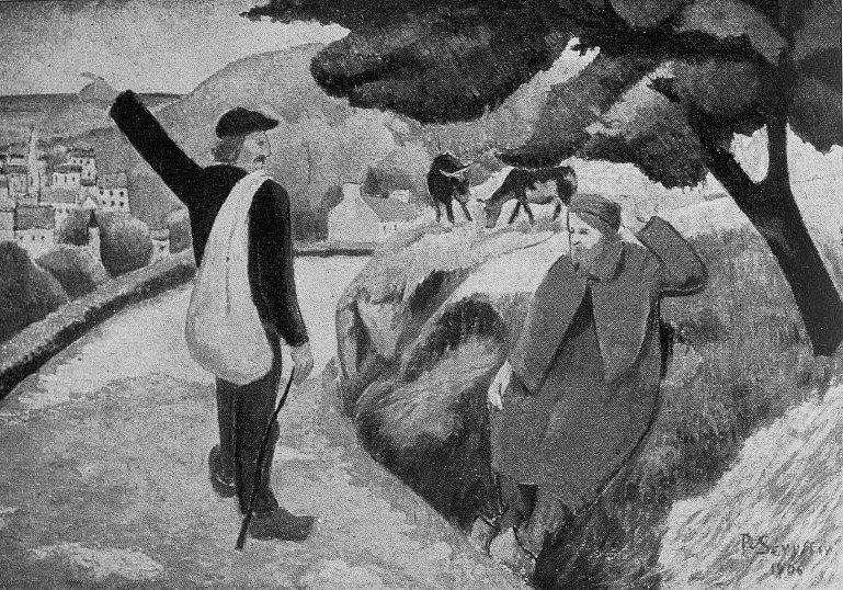 Tityrus Meliboea and the departure of Gauguin - Paul Serusier