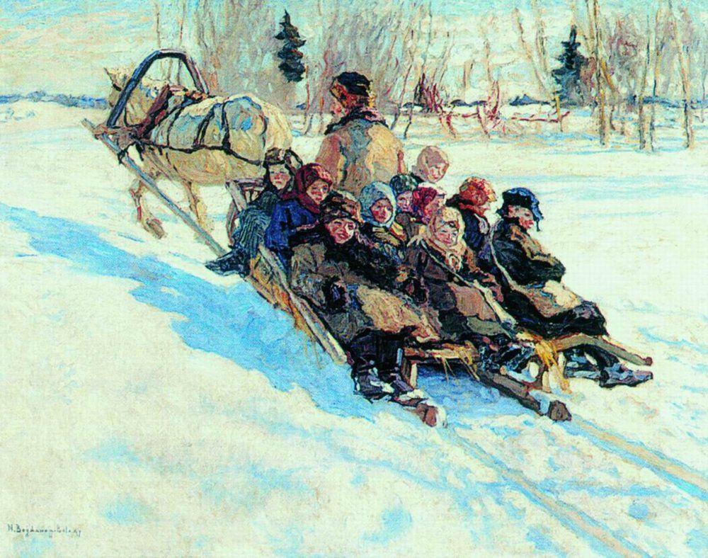 To school - Nikolay Bogdanov-Belsky