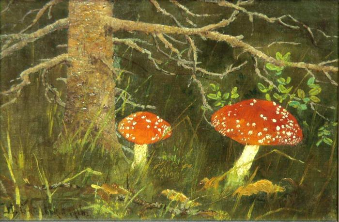 Toadstools under the Tree - Nikolay Bogdanov-Belsky