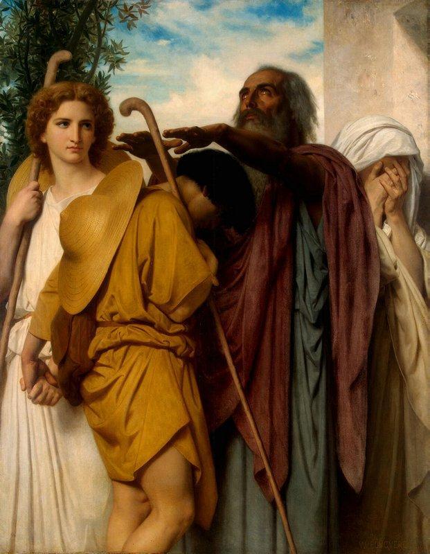 Tobias Receives his Father's Blessing - William-Adolphe Bouguereau