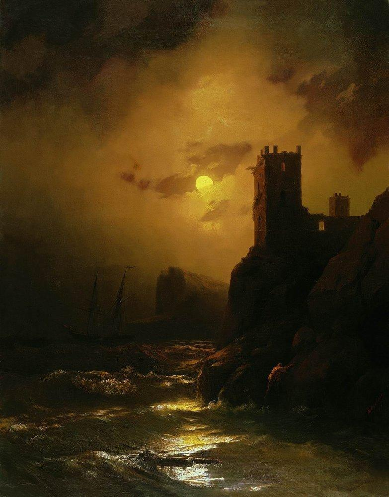 Tower. Shipwreck - Ivan Aivazovsky