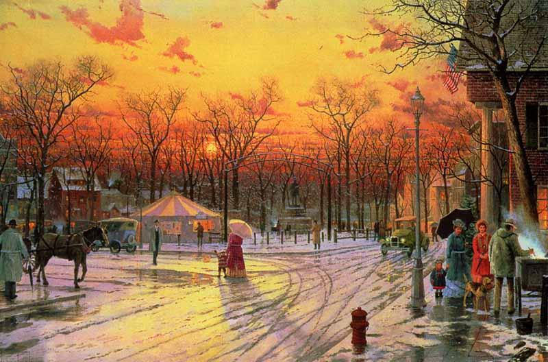 Town Square - Thomas Kinkade