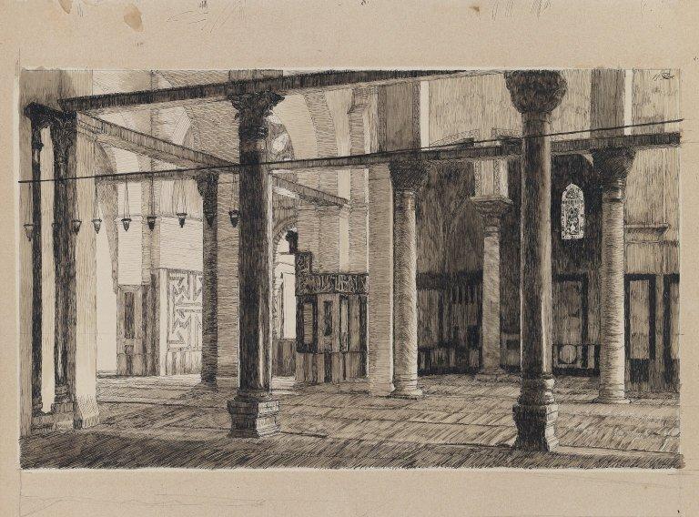 Transept of the Mosque of El Aksa - James Tissot