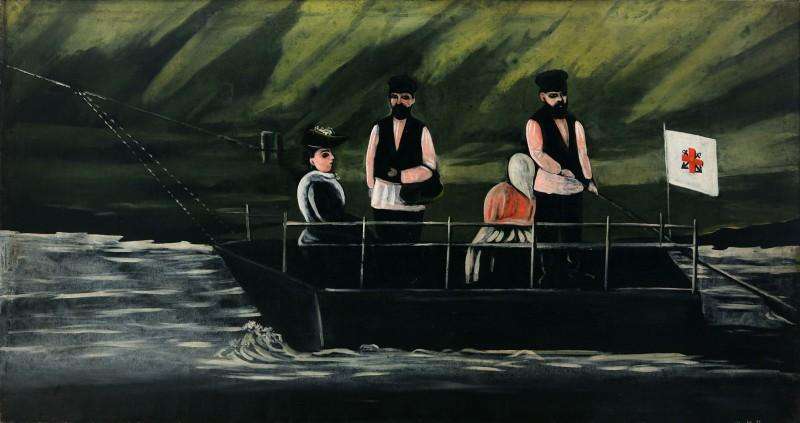 Ferryboat in Didube - Niko Pirosmani