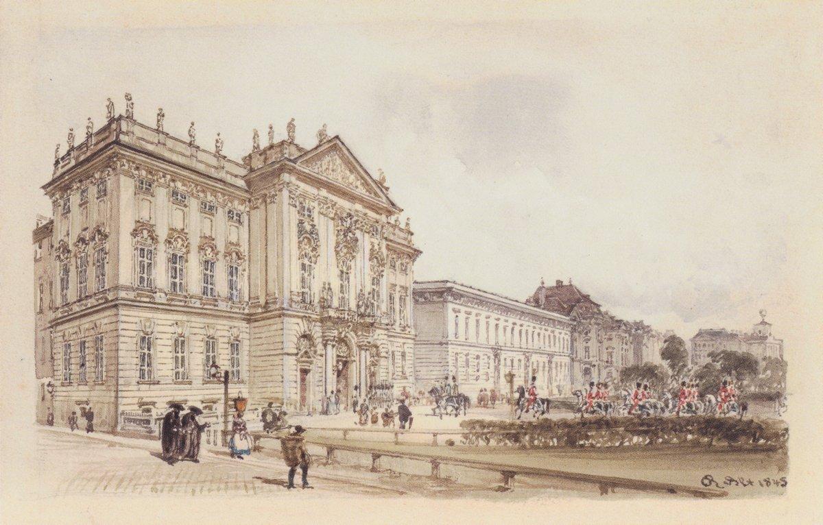 Trautson Palace in Vienna - Rudolf von Alt