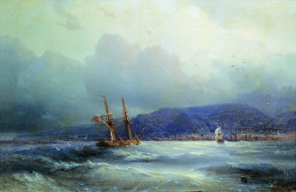 Trebizond from the Sea - Ivan Aivazovsky