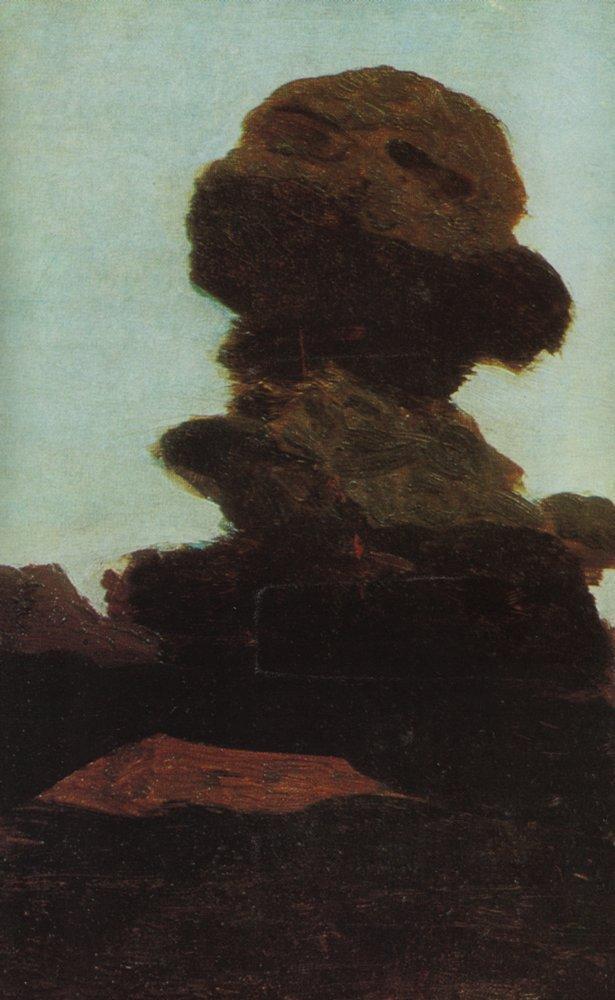 Tree against the evening sky - Arkhip Kuindzhi