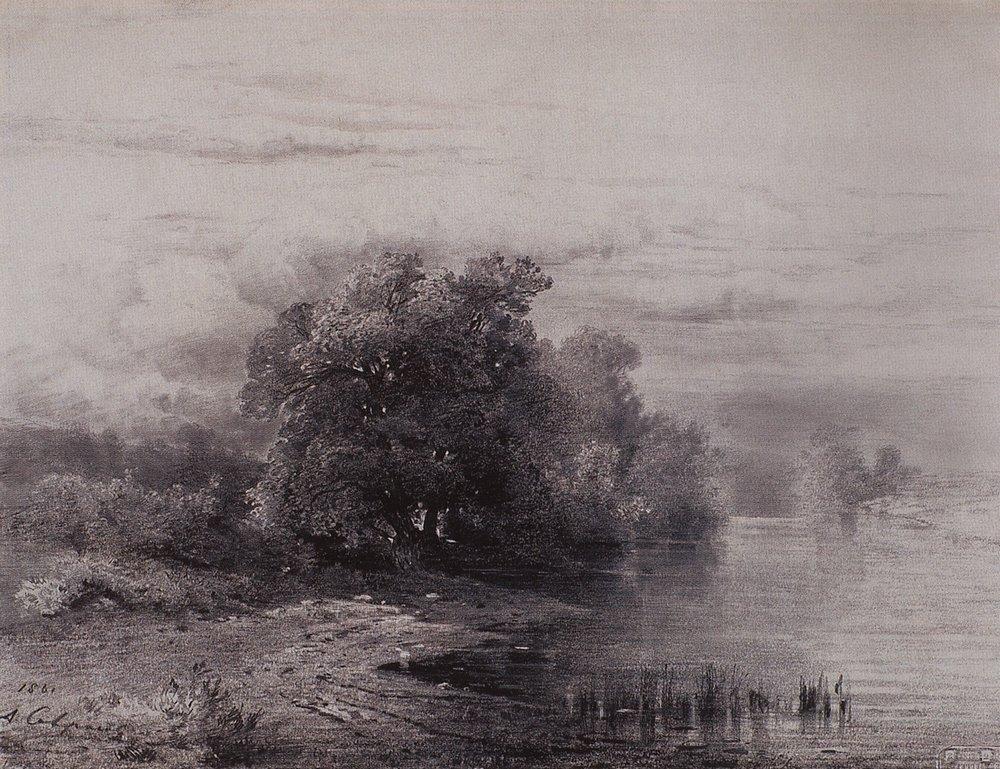 Trees by the River - Aleksey Savrasov