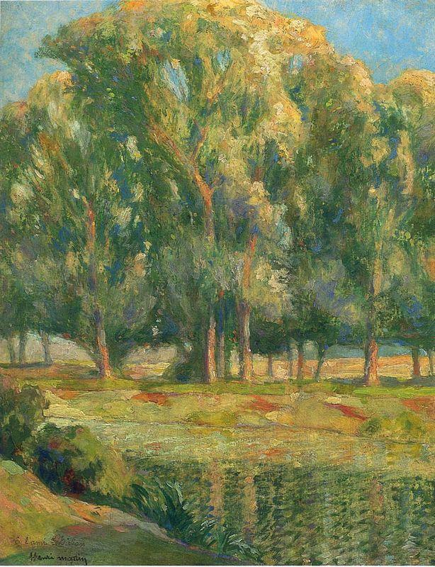 Trees by the River - Henri Martin