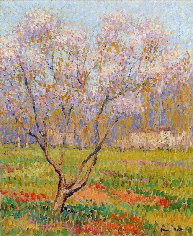 Trees in Bloom - Henri Martin