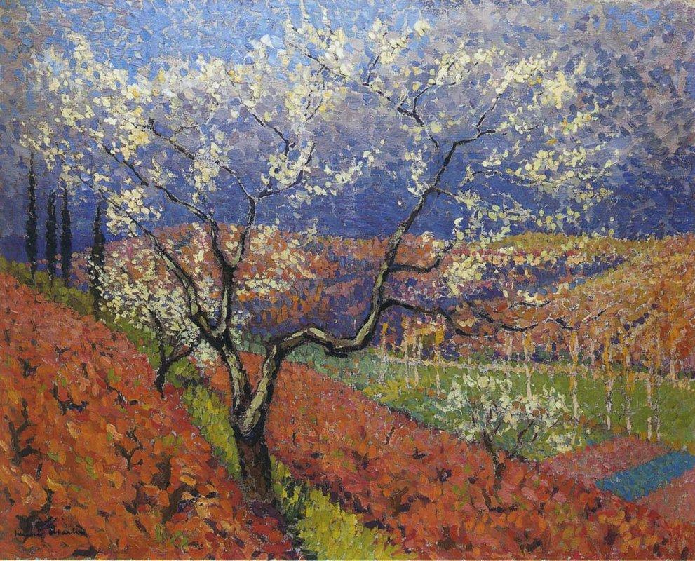 Trees in Flower - Henri Martin