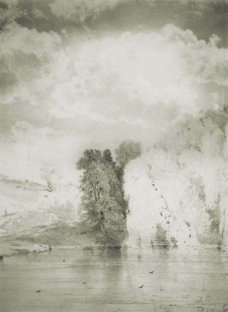 Trees near the lake - Aleksey Savrasov