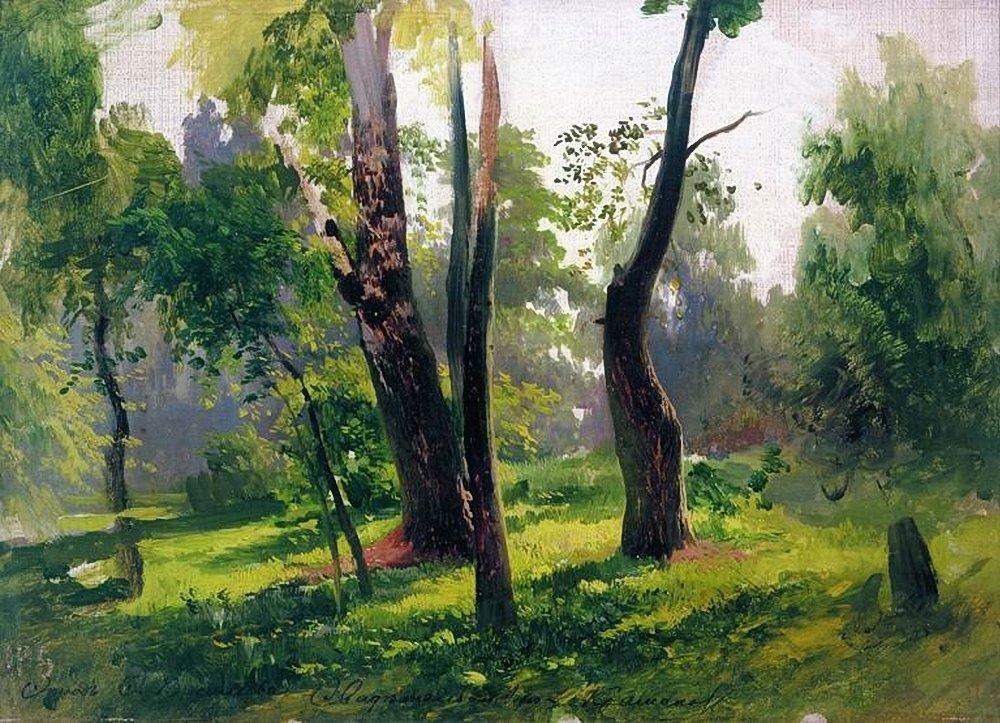 Trees. Study - Fyodor Vasilyev
