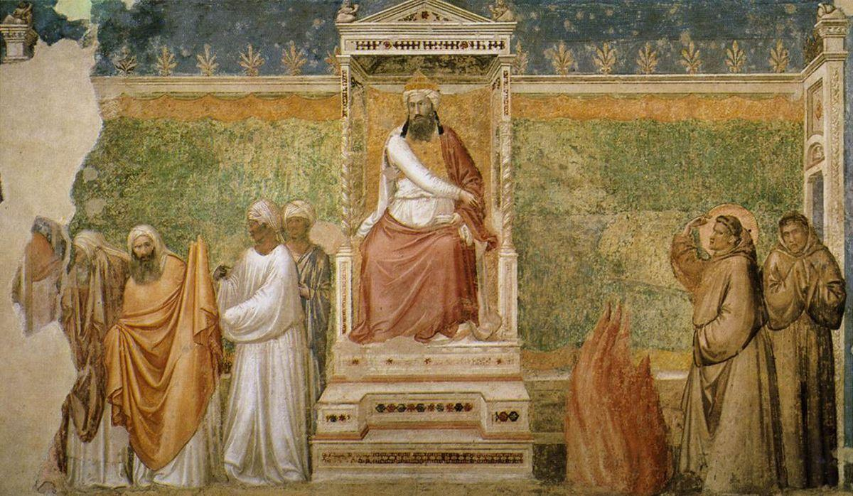 Trial by Fire of St. Francis of Assisi before the Sultan of Egypt - Giotto