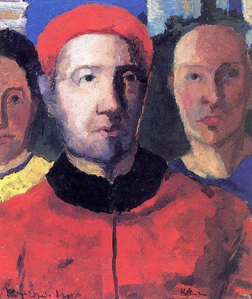 Triple portrait - Kazimir Malevich