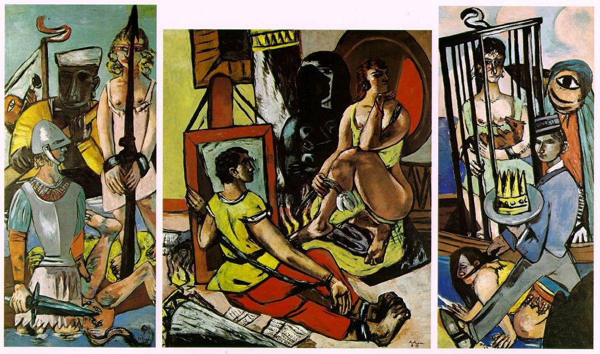 Triptych of the Temptation of St. Anthony - Max Beckmann