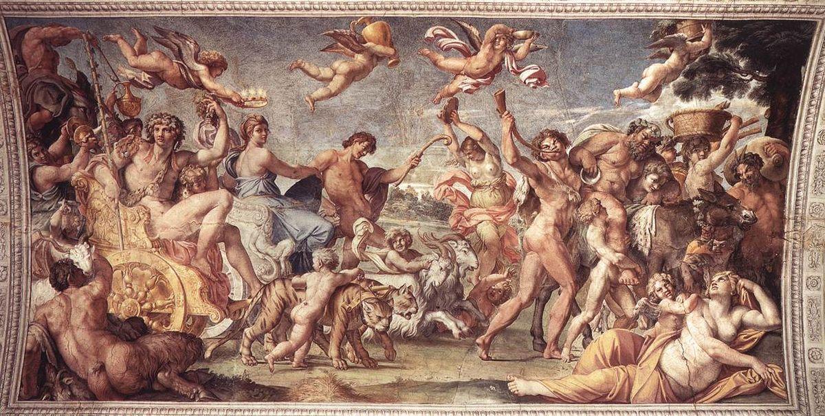 Triumph of Bacchus and Ariadne - Annibale Carracci