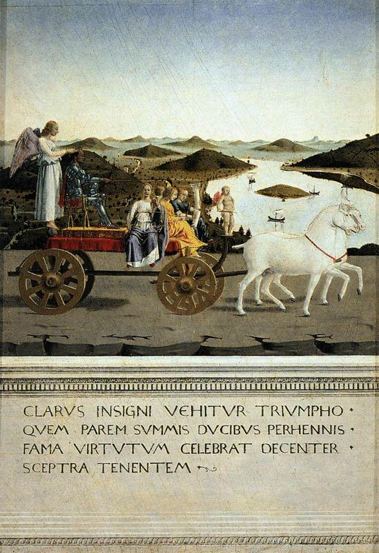 Triumph of Federico da Montefeltro - Piero della Francesca