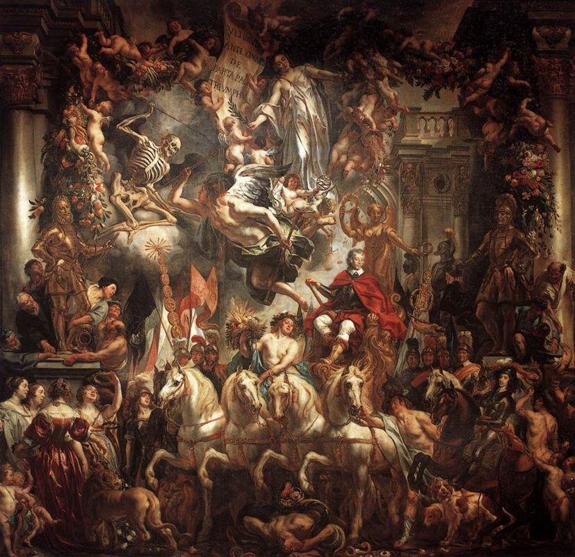 Triumph Of Frederik Hendrik Jacob Jordaens Allpantersorg