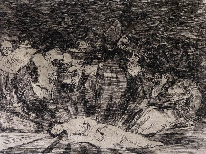 Truth Has Died - Francisco Goya