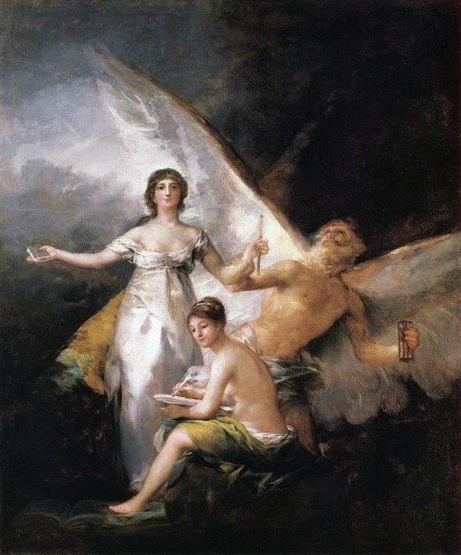 Truth Rescued by Time, Witnessed by History - Francisco Goya
