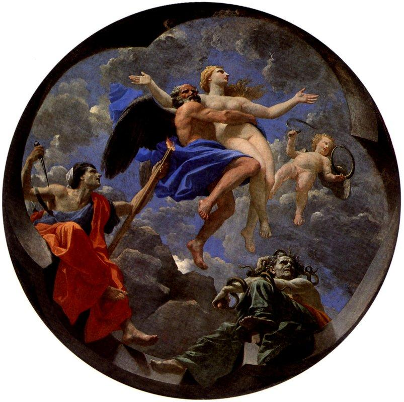 Truth Stolen Away by Time Beyond the Reach of Envy and Discord - Nicolas Poussin