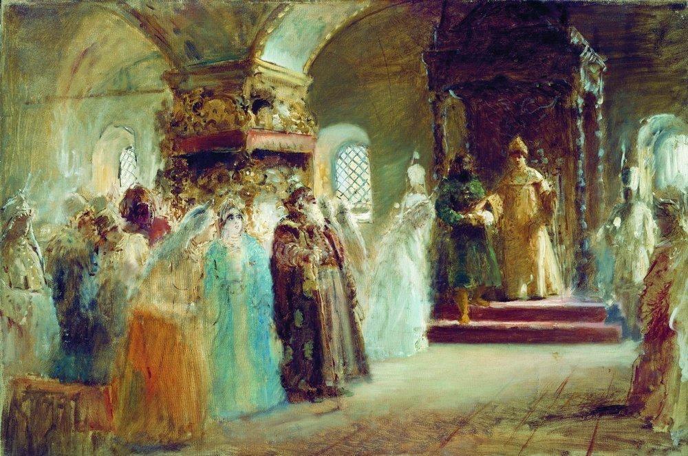 Tsar Alexei Michaylovich choosing a bride - Konstantin Makovsky