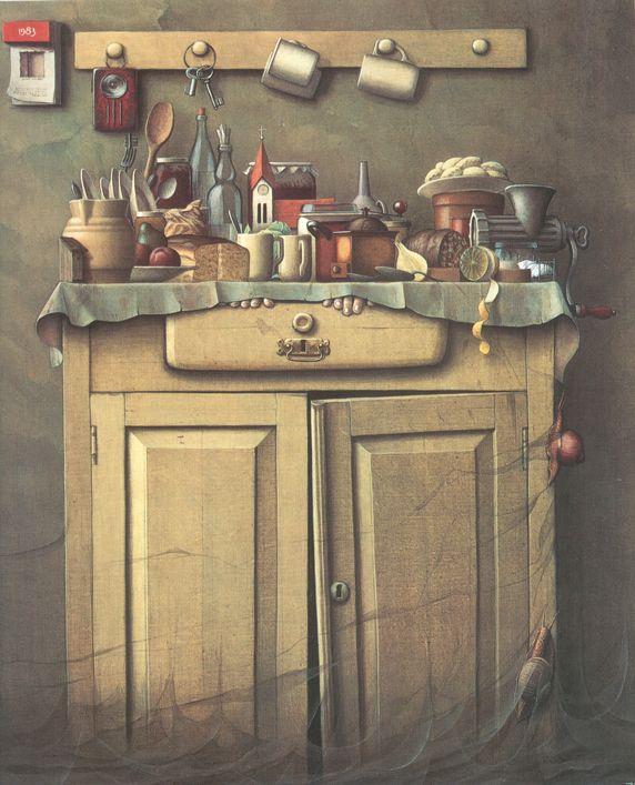 Twilight In The Cupboard - Jacek Yerka