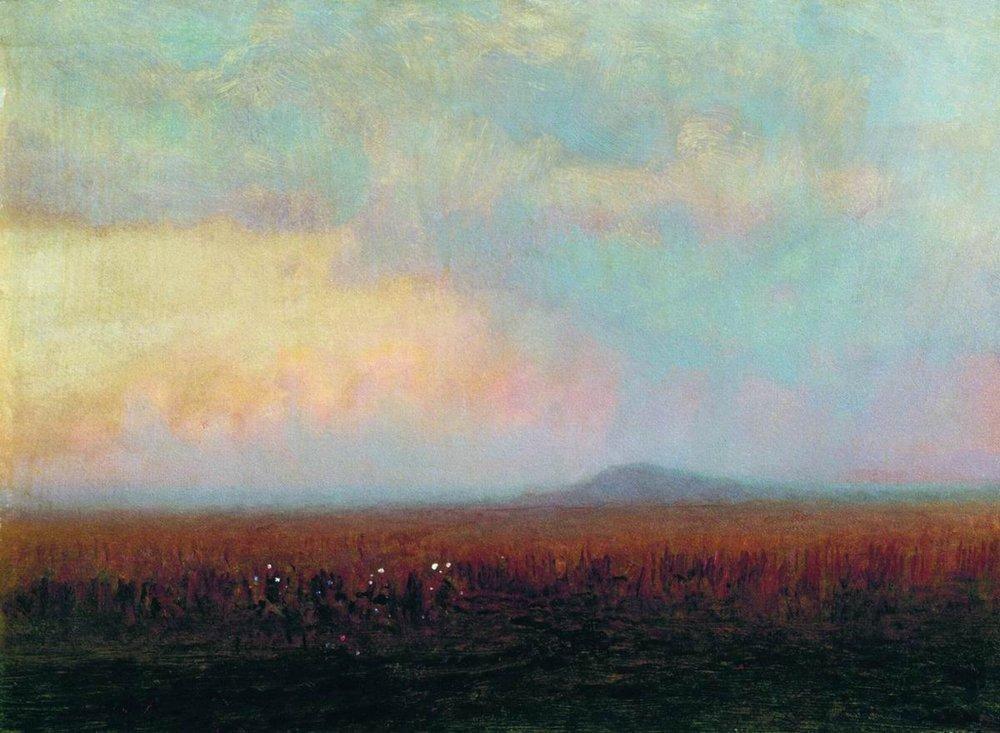 Twilight in the steppe - Arkhip Kuindzhi