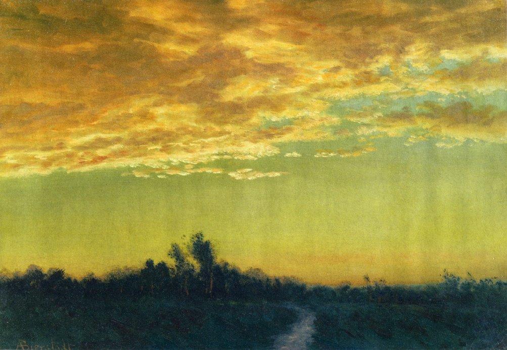 Twilight over the Path - Albert Bierstadt