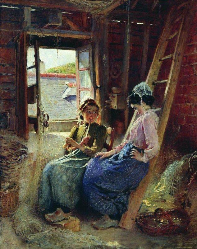 Two Breton Women - Konstantin Makovsky