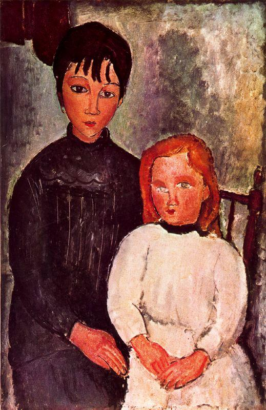 Two girls - Amedeo Modigliani