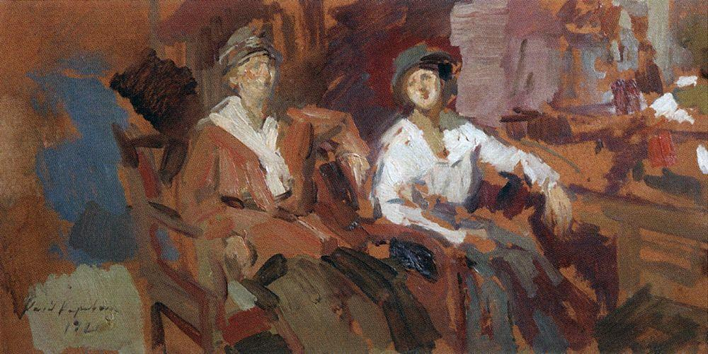 Two in a chair  - Konstantin Korovin