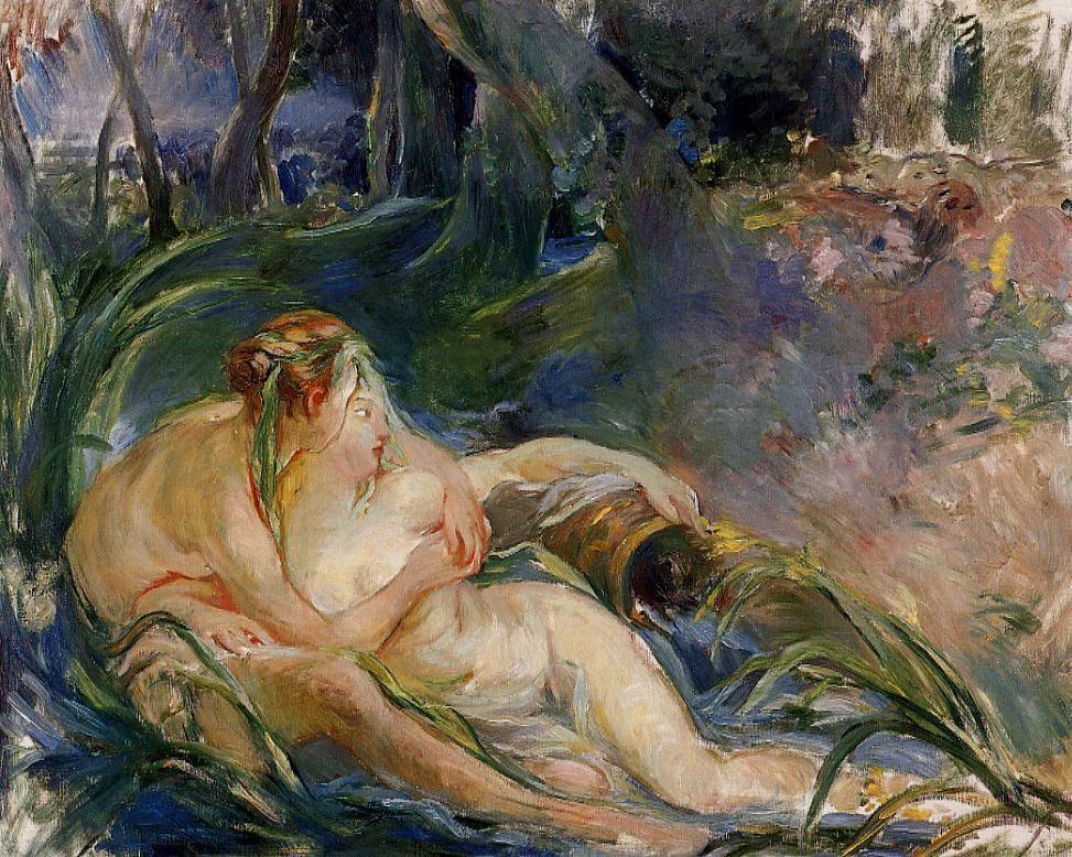 Two Nymphs Embracing - Berthe Morisot
