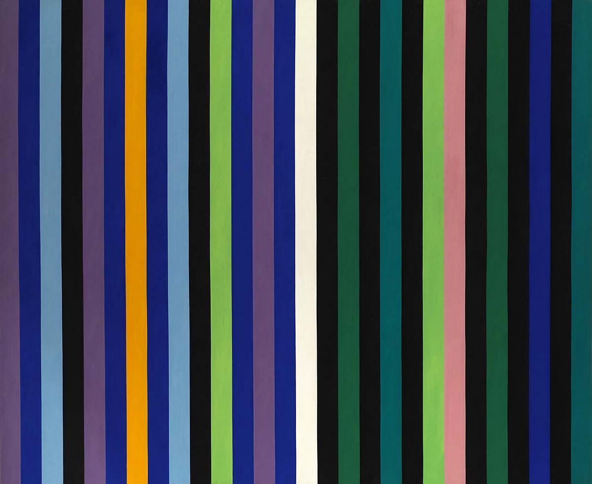 Two Part Blue - Gene Davis