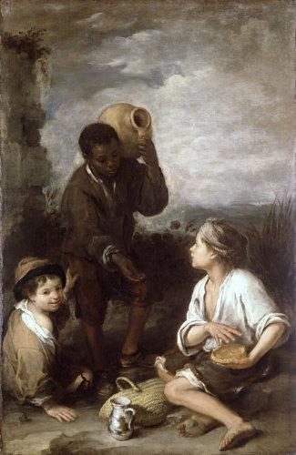 Two Peasant Boys and a Negro Boy - Bartolome Esteban Murillo