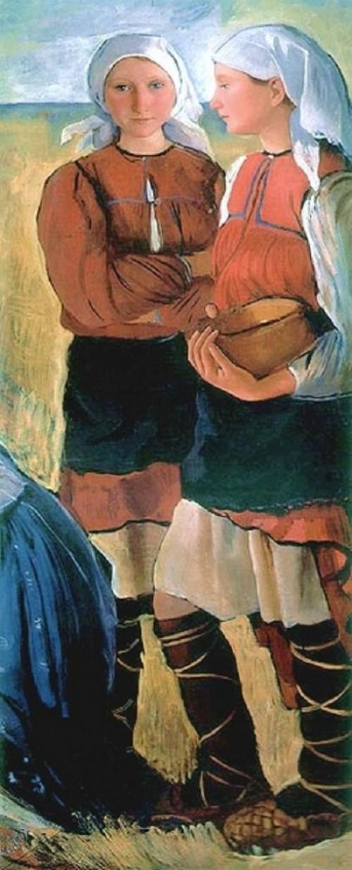 Two Peasant Girls - Zinaida Serebriakova
