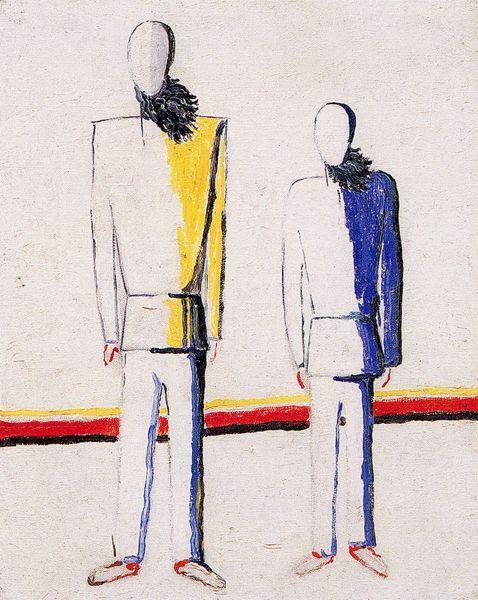 Two peasant - Kazimir Malevich