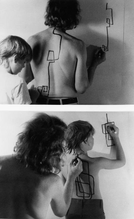 Two Stage Transfer Drawing - Dennis Oppenheim