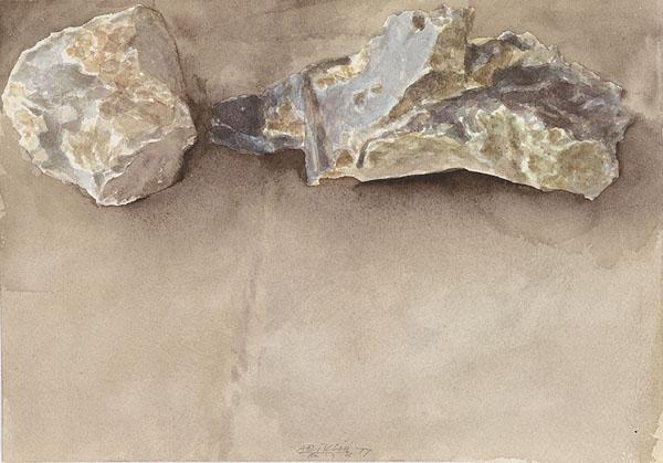 Two Stones - Avigdor Arikha