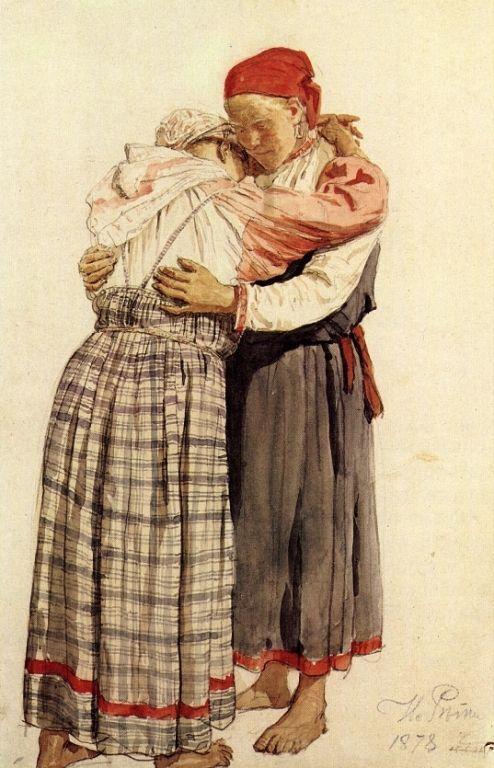 Two woman - Ilya Repin