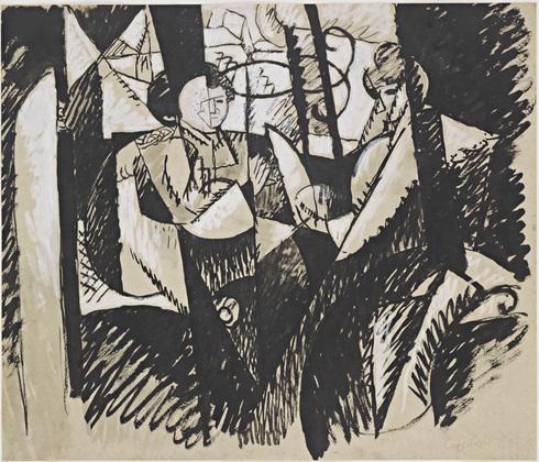 Two Women Seated by a Window - Albert Gleizes