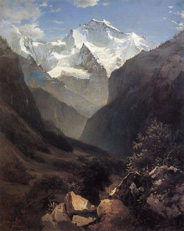 Type in the Swiss Alps (Mount Small Ruhen) - Aleksey Savrasov